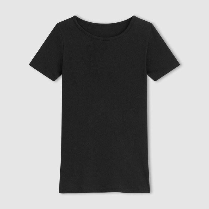 T-shirt col rond, coton BIO La Redoute Collections