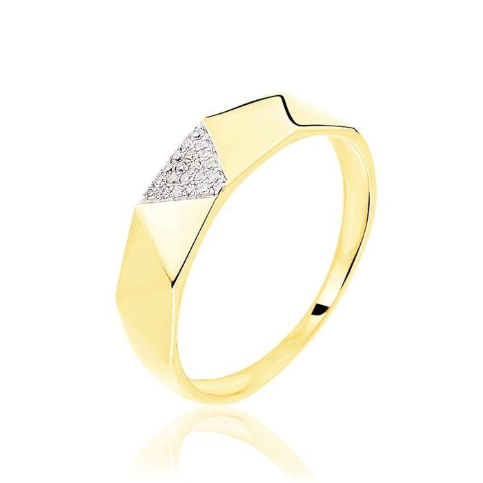 Bague or jaune triangles diamants jaune Histoire D'or | La Redoute Offres À Vendre explorer mp3K51oo