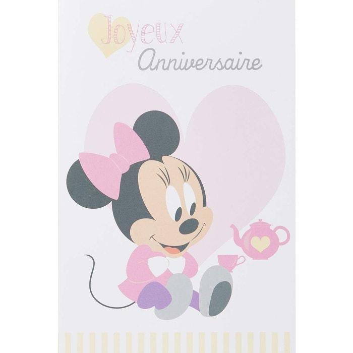 Carte Anniversaire Minnie Bebe Multicolore Draeger La Carterie La Redoute