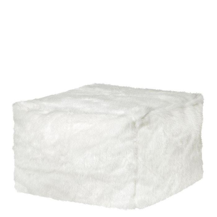 pouf loft winterfell blanc sitting point la redoute. Black Bedroom Furniture Sets. Home Design Ideas