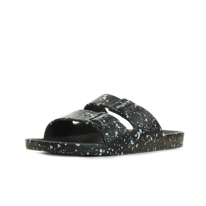 Freedom slippers black splatter  noir/blanc Moses  La Redoute