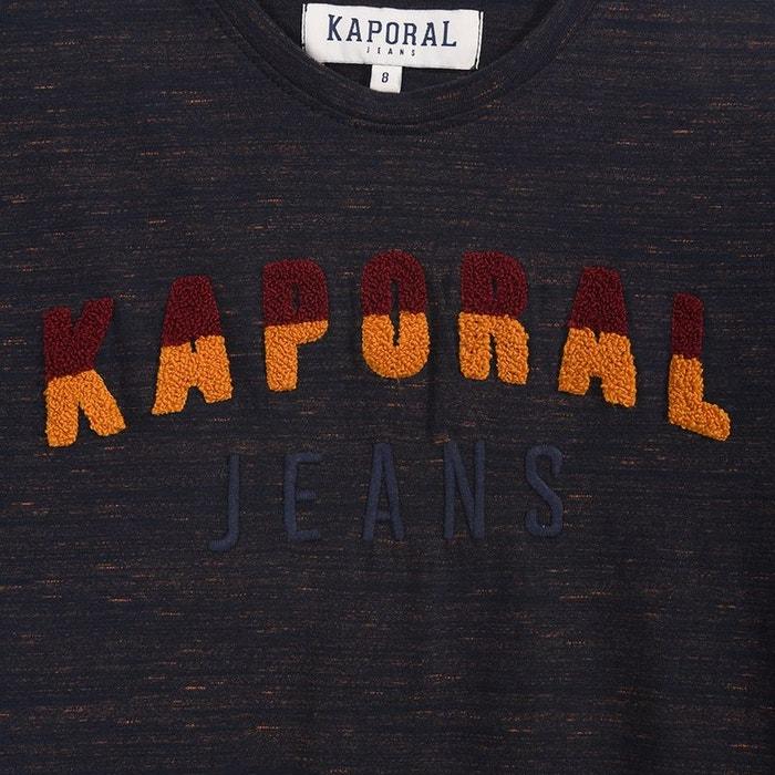 29daf634d930 Tee-shirt chiné avec inscription relief moup bleu navy Kaporal