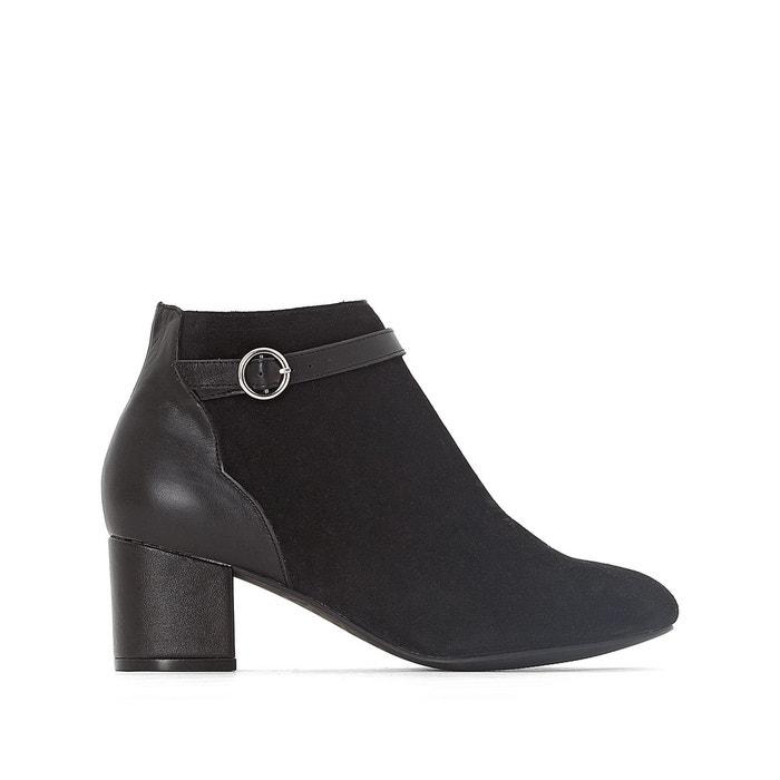 Boots cuir découpes écaille  brique Mademoiselle R  La Redoute