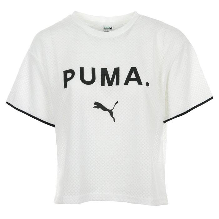 e42c6b3efa T-shirt chase mesh tee blanc/noir Puma | La Redoute