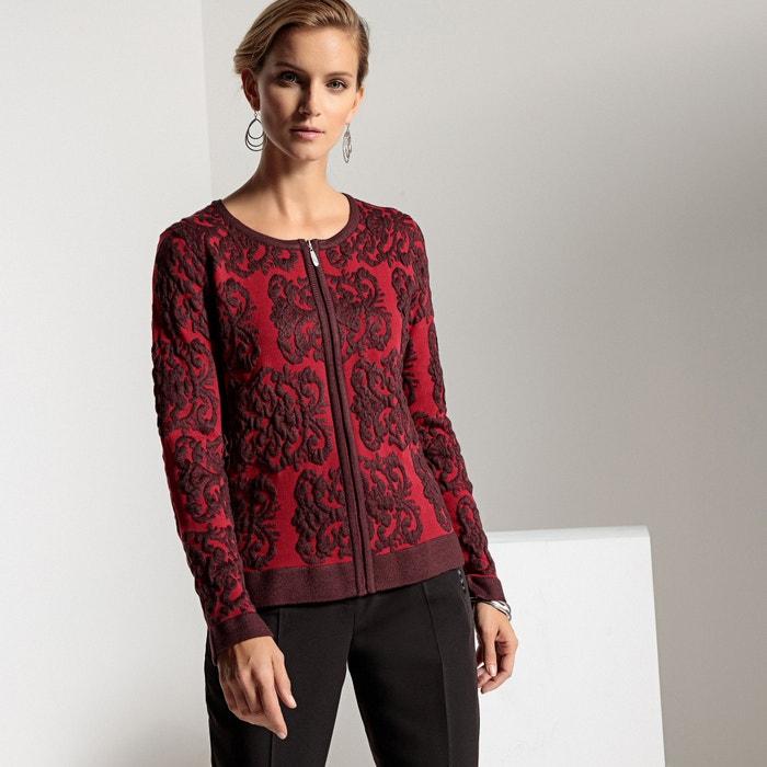 Embroidered Jacket-Style Cardigan  ANNE WEYBURN image 0