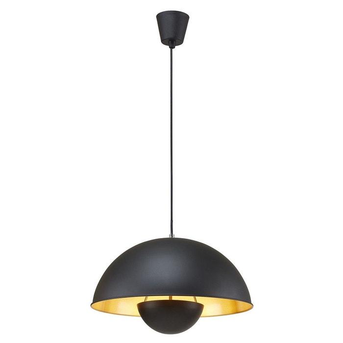 Suspension industrielle sand noire et dorée en métal noir Keria   La ...