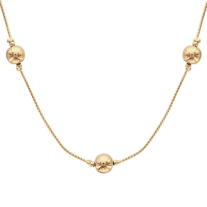 Collier 45 cm femme chaîne boules plaqué or 750 So Chic Bijoux   La Redoute e1d12671fa5