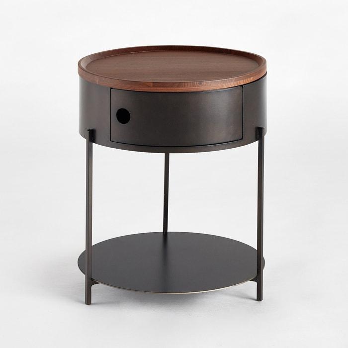 Talbingo Solid Walnut Bedside Table.