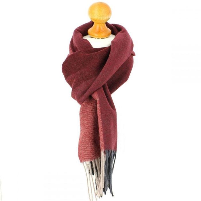 221765c45ba31 Echarpe en laine d'Australie, Canberra Rouge Bordeaux