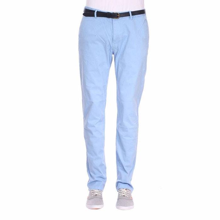 pantalon chino scotch soda classic garment en coton stretch ciel bleu scotch and soda la redoute. Black Bedroom Furniture Sets. Home Design Ideas