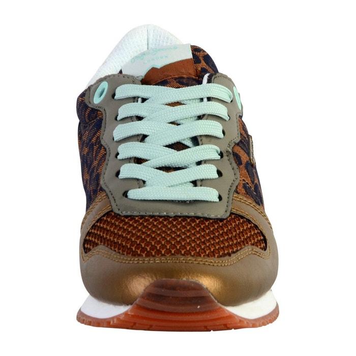 Basket gable print marron Pepe Jeans