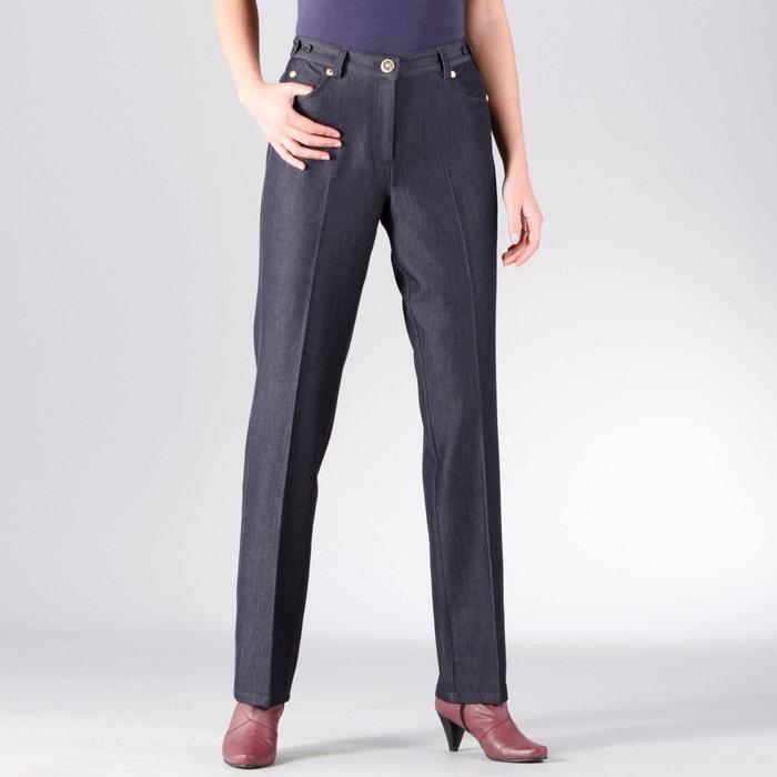 "Image Adjustable Waist Stretch Jeans, Length 30.5"" ANNE WEYBURN"