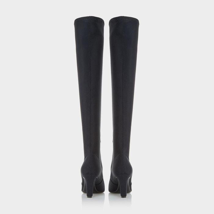 Cuissardes ajustées en néoprène stetch - stanford noir tissu Dune Black
