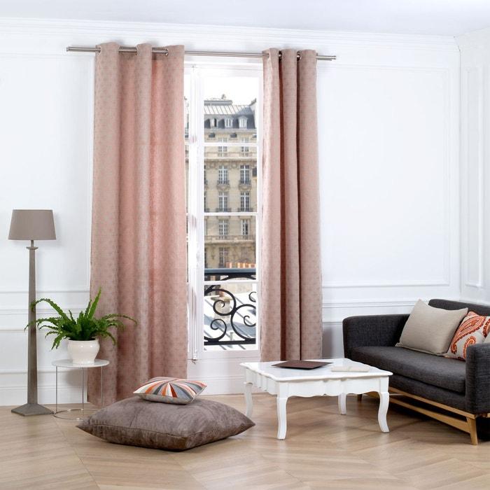 rideau oeillets santana orange brique madura la redoute. Black Bedroom Furniture Sets. Home Design Ideas