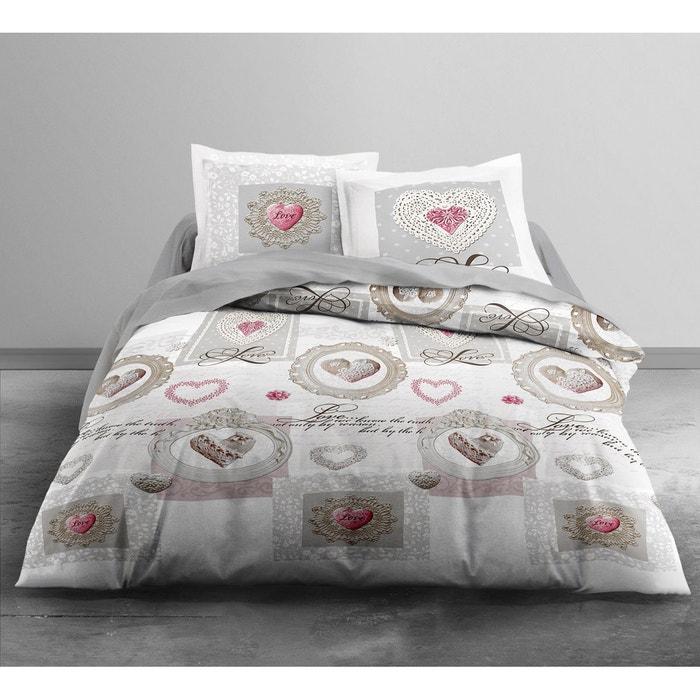 parure de couette 100 coton flanelle 240x220 karellis blanc today la redoute. Black Bedroom Furniture Sets. Home Design Ideas