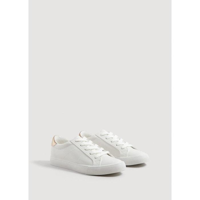 98465ad845d0 Tennis ornement contrasté blanc Mango