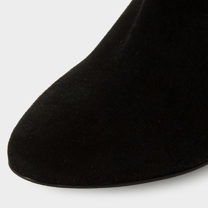 Bottes au genou souples à talons et effet froncé - sorrel noir daim Dune Black