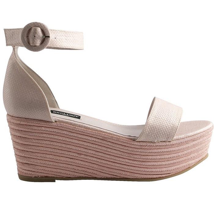 Chaussures compensées iosis rose Exclusif Paris