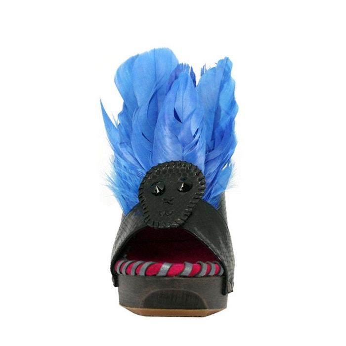 Chaussure femme en cuir feather multicolore Pring Paris