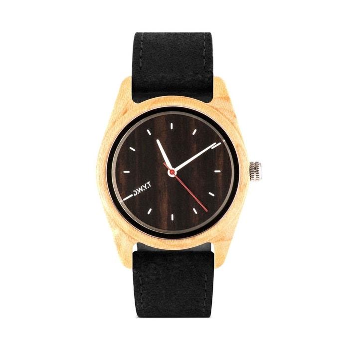 Montre en bois taiga bracelet cuir D.W.Y.T Watch | La Redoute Pas Cher En Vente Visite Nouvelle vue Réel À Vendre Mastercard Pas Cher En Ligne DxjNZSph