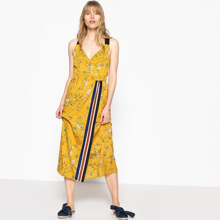 Vestido cruzado, sin mangas, semilargo, estampado  La Redoute Collections image 0