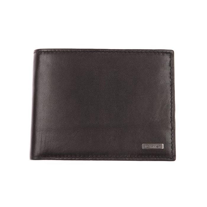 Grand portefeuille italien jeans rail en cuir lisse noir cuir noir Calvin Klein Jeans | La Redoute Des Prix ZEZQqEMu0