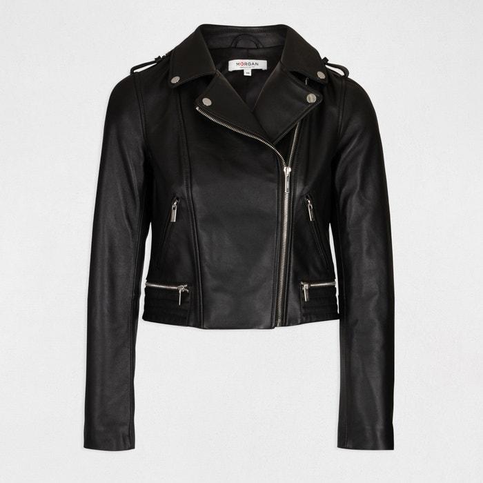 Blusão em imitação pele, tipo casaco estilo motard