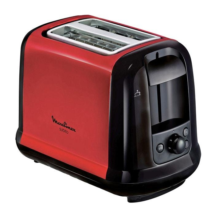 toaster subito lt260d11 noir rouge moulinex la redoute. Black Bedroom Furniture Sets. Home Design Ideas