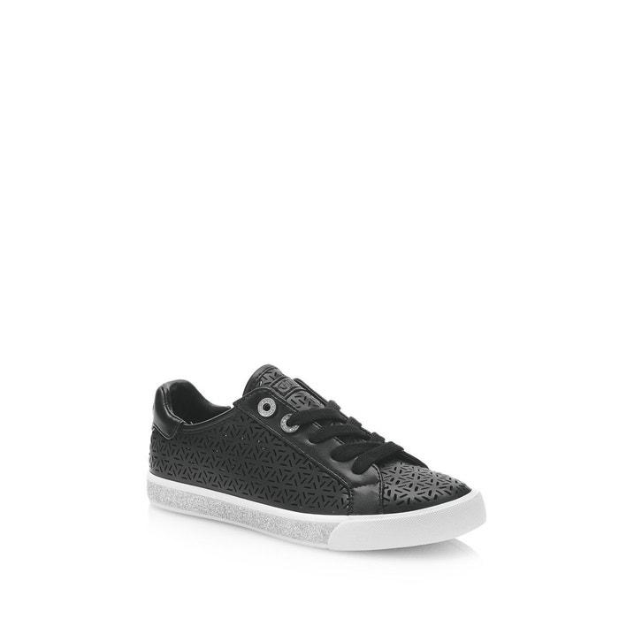 Le Plus Grand Fournisseur De Sortie Vente Abordable Sneaker meggie effet ajoure noir Guess Le Moins Cher epqaE