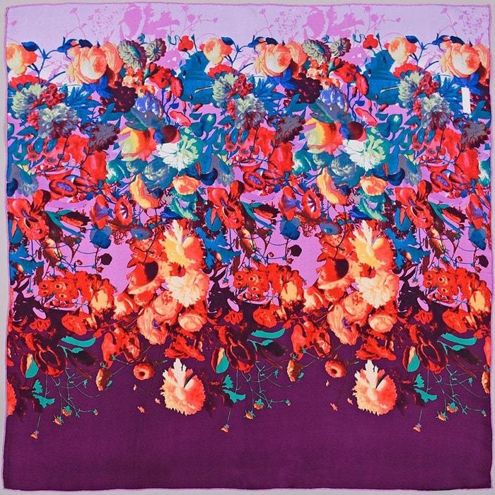carr de soie premium pioggia violet allee du foulard la redoute. Black Bedroom Furniture Sets. Home Design Ideas