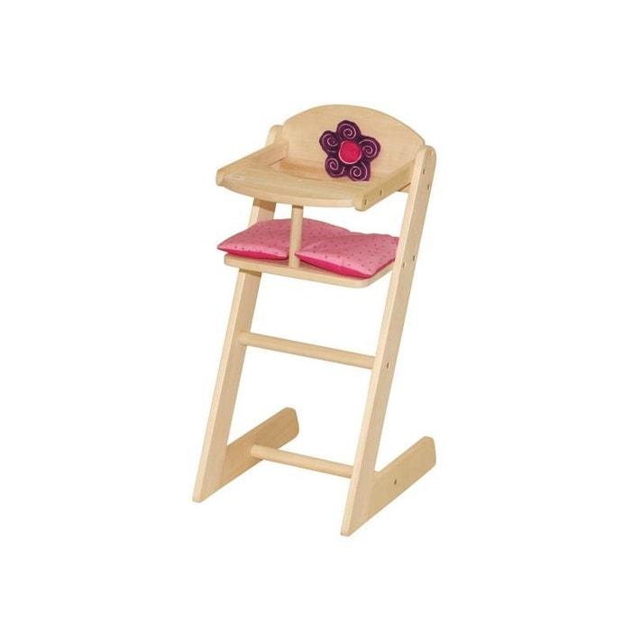 Roba 97234 chaise haute happy fee en bois naturel pour for Chaise haute bebe la redoute