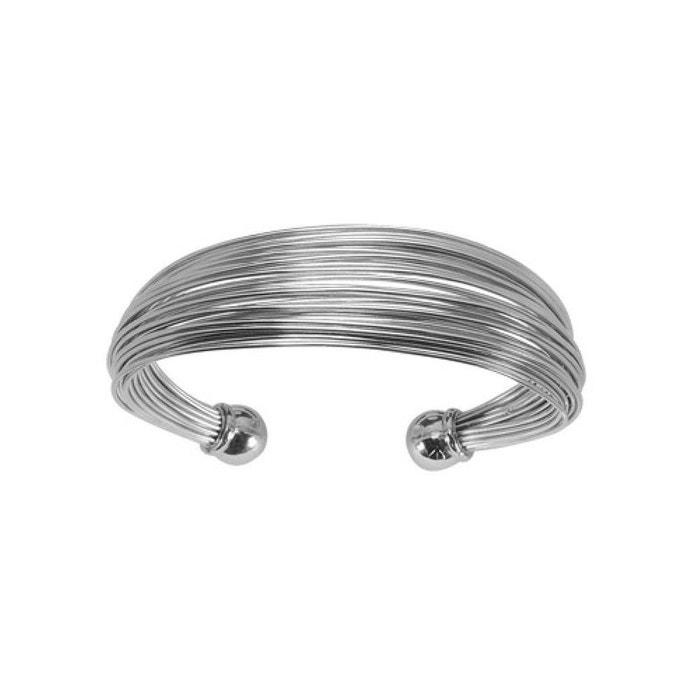 46189cf66454df Bracelet esclave multi fils ronds lisses acier So Chic Bijoux   La Redoute