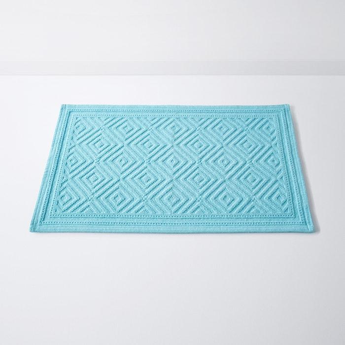 tapis de bain cairo motif en relief coton 1500g m bleu turquoise la redoute interieurs. Black Bedroom Furniture Sets. Home Design Ideas