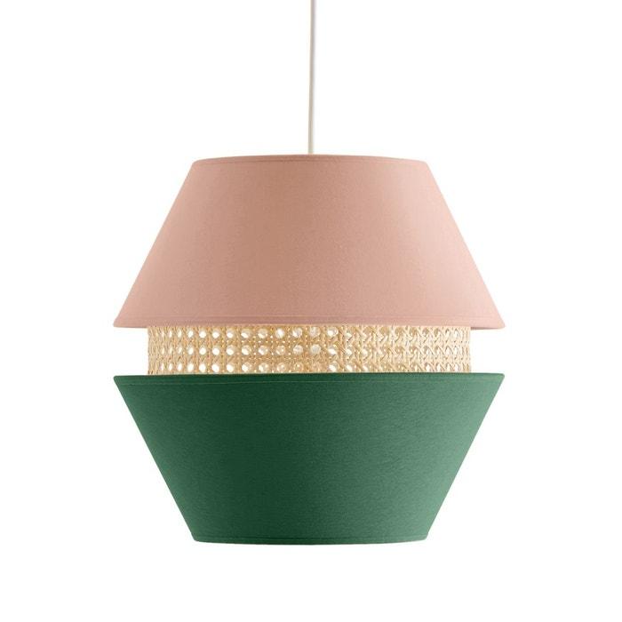 suspension coton et cannage caeli rose vert la redoute. Black Bedroom Furniture Sets. Home Design Ideas