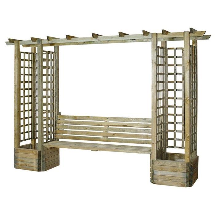 pergola droite en bois trait pieds jardini re bois cemonjardin la redoute. Black Bedroom Furniture Sets. Home Design Ideas