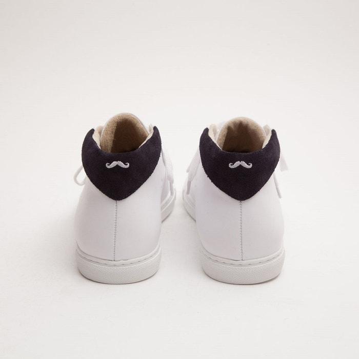 Baskets en cuir richard blanc M. Moustache