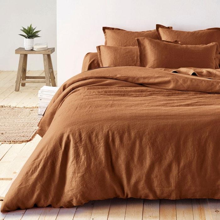 housse de couette en pur lin lave la redoute interieurs. Black Bedroom Furniture Sets. Home Design Ideas