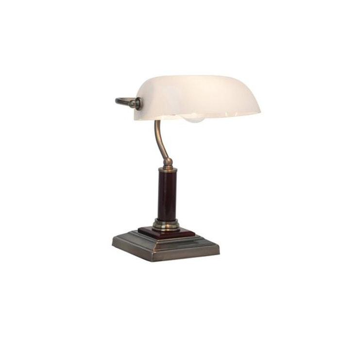 lampe de bureau bankir 1x60w e27 laiton antique brilliant 92679 31 brilliant la redoute. Black Bedroom Furniture Sets. Home Design Ideas