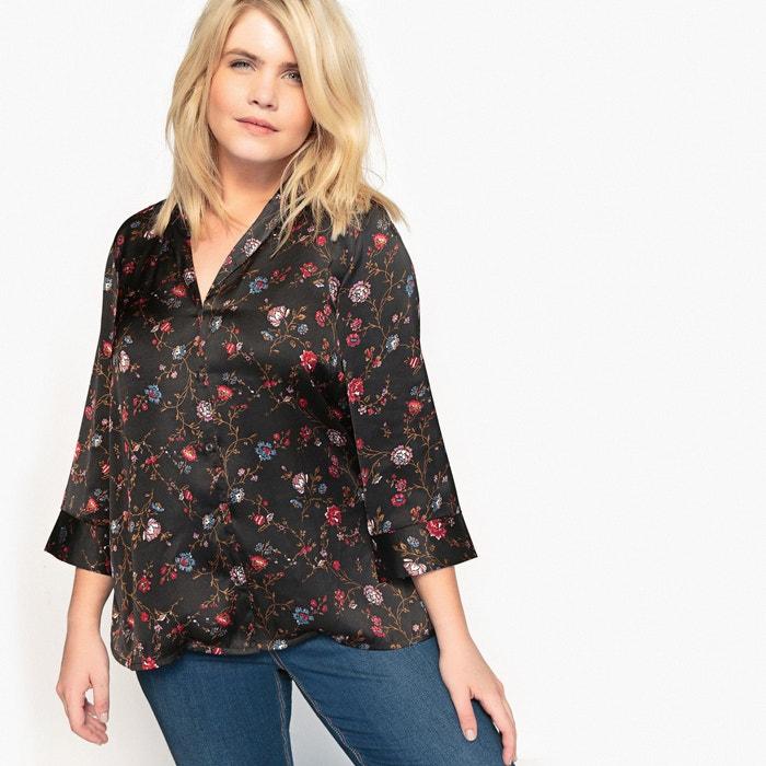 afbeelding Bedrukte blouse met sjaalkraag en lange mouwen CASTALUNA