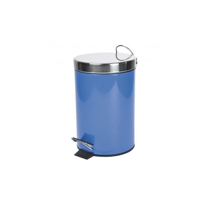 Poubelle de salle de bain tendance en m tal bleu roi home for Poubelle de salle de bain bleu