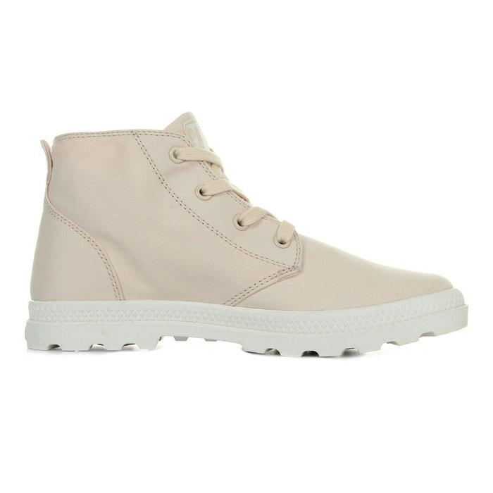 Boots femme pampa free cvsw linen/marshmallow rose/blanc Palladium