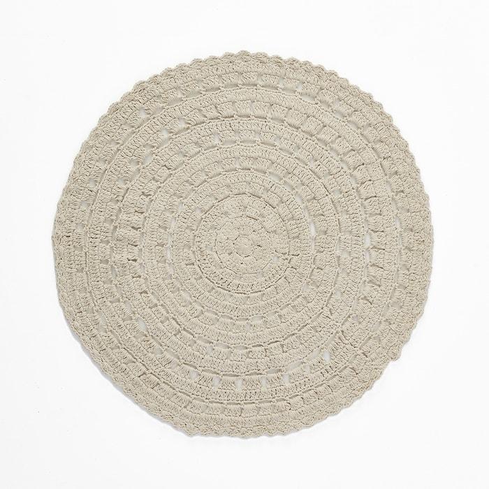 tapis rond en crochet coton brigitte bardot x la redoute cru la redoute. Black Bedroom Furniture Sets. Home Design Ideas