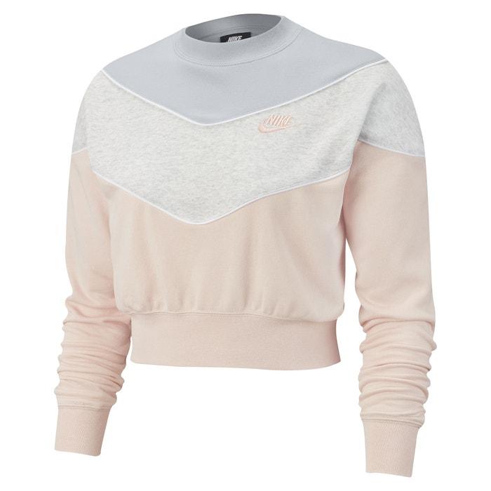 buy popular 0a717 a8472 Sweatshirt in Cropped-Form, dreifarbig, runder Ausschnitt
