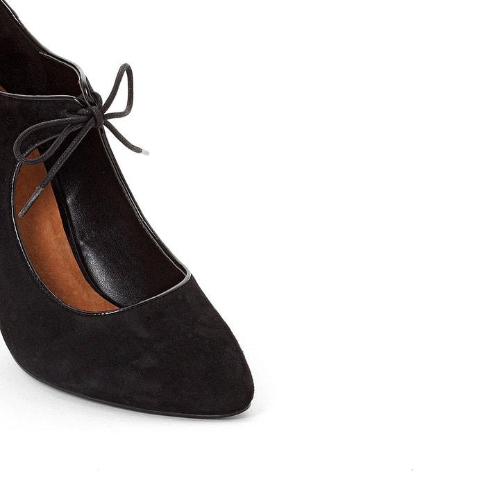 Escarpins cuir liens noir La Redoute Collections