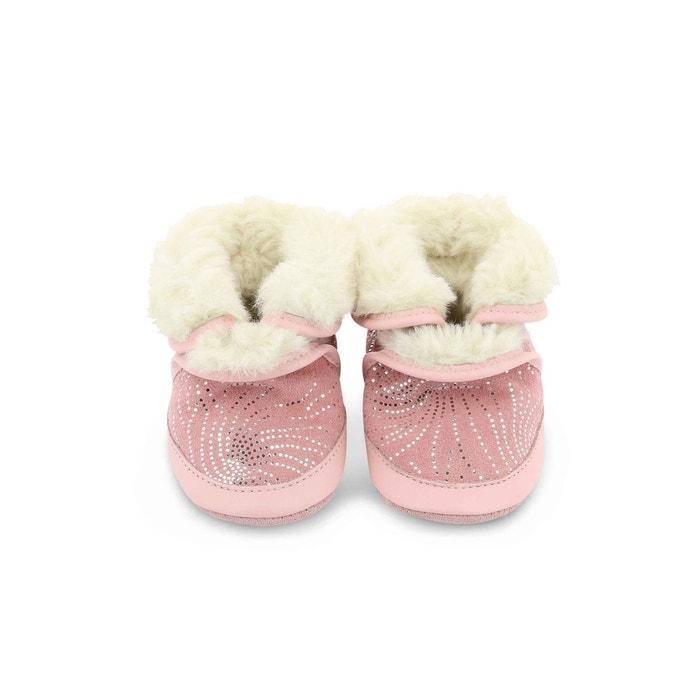 610f06f4e97de Chausson cuir bébé cosy boot rose Robeez
