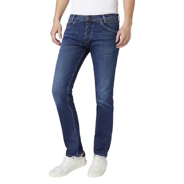 Aansluitende, rechte stretch jeans Spike Tru Blu  PEPE JEANS image 0