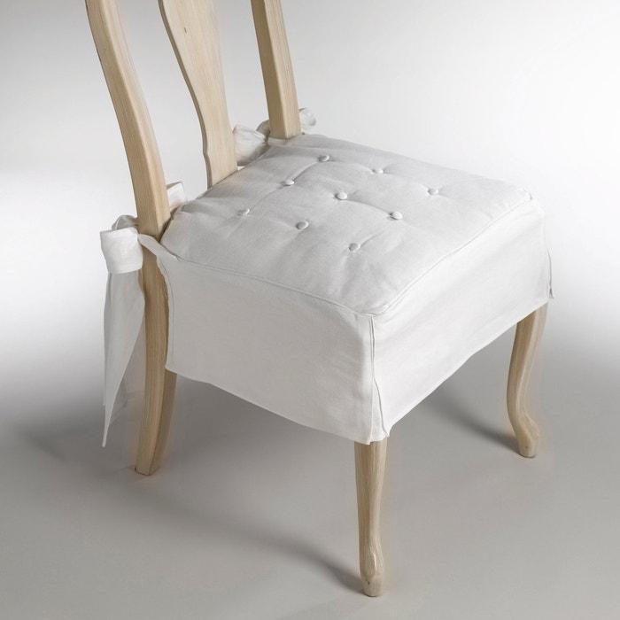 Almofada para cadeira, meio-linho linho/algodão, JIMI La Redoute Interieurs