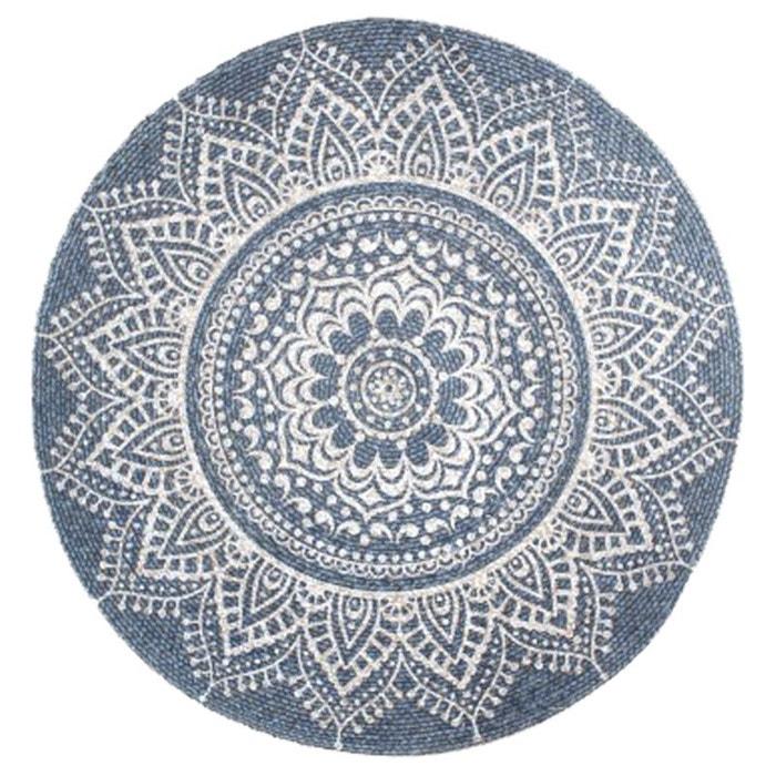 Tapis Mandala 90 Cm Gris Bleu United Labels La Redoute