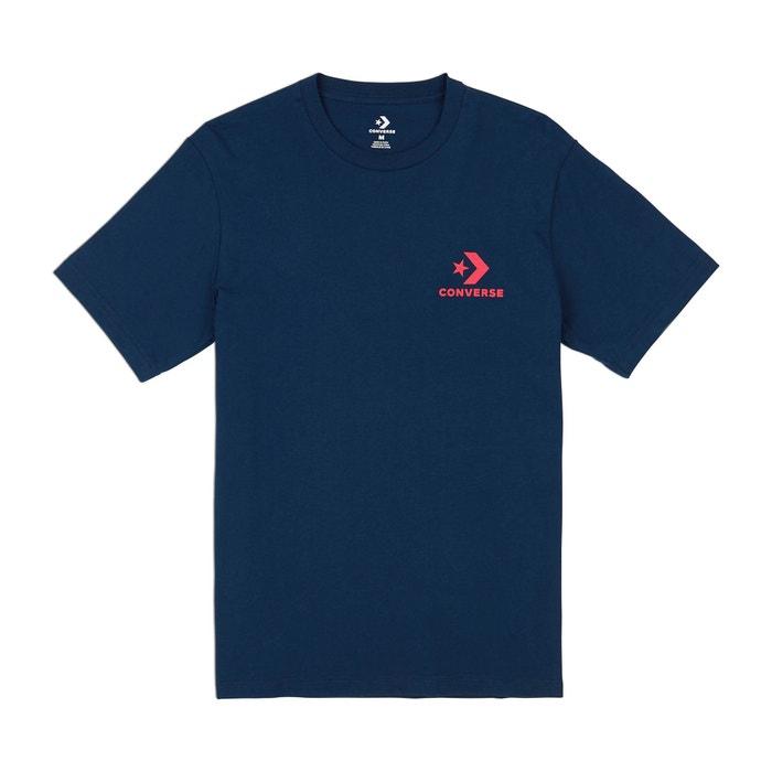 manga redondo y corta Camiseta cuello con CONVERSE q7Xfn8