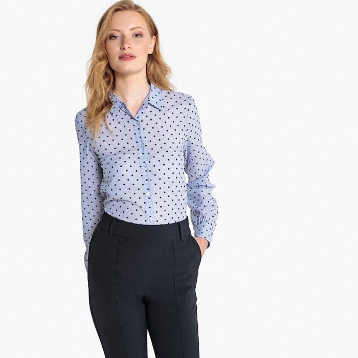64267fc8692 Textured polka dot long-sleeved shirt , blue polka dot print, La Redoute  Collections | La Redoute